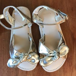 NWT Gymboree gold metallic bow sandals